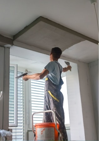 platering job on white walls at townsville handyman
